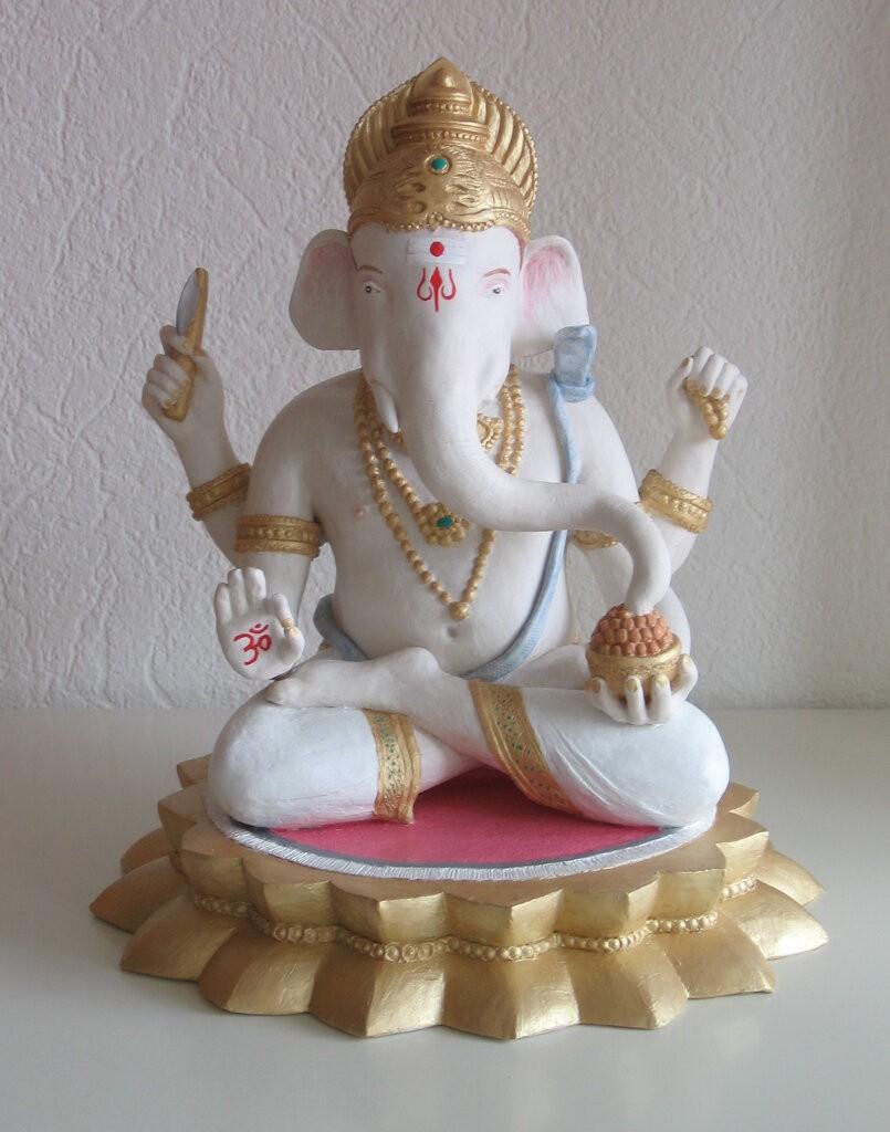Ganesha-Lakshmi-Vinayakam-2013-acrylics-27-x-30-x-27cm